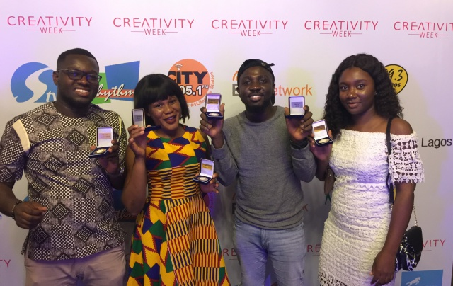 PHD Ghana's contestants (left to right): Emmanuel Addo, Magdaline Afutu, Ebenezer Arthur and Boma Eli.