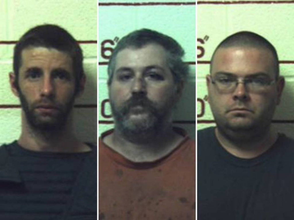 Three men sentenced to 20-41 years for having sex with nine female horses, a cow, a goat and dogs.