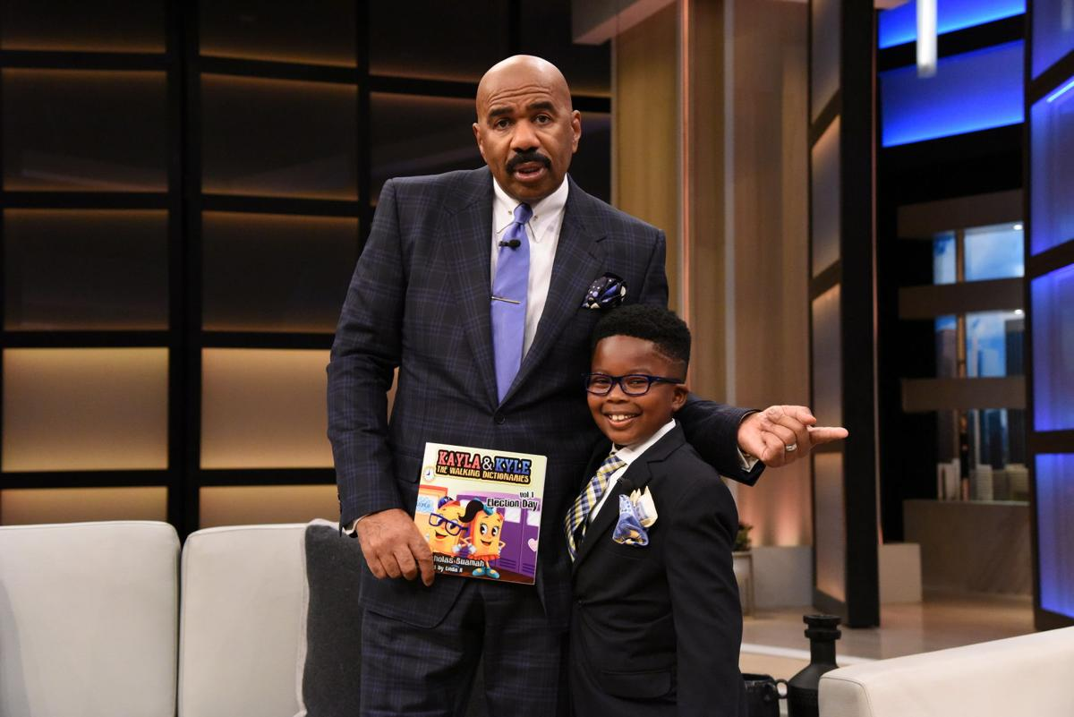 Nicholas Buamah gets Steve Harvey to pledge donating books libraries in Ghana