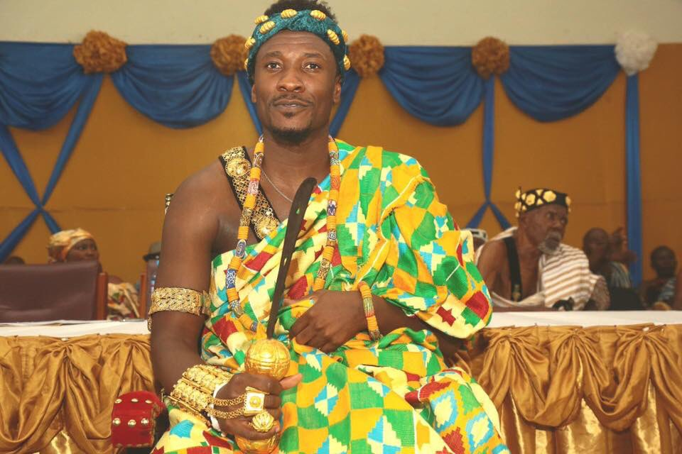 Photos: Asamoah Gyan installed as 'kind-hearted, progressive chief' in Hohoe.