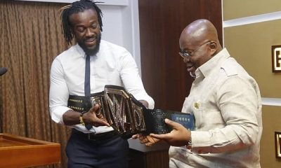 Photos: Kofi Kingston meets President Nana Akufo-Addo.