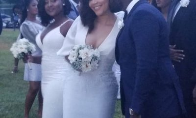 Fred Nuamah and Nadia Buari get Touchy-feely at John Dumelo's wedding