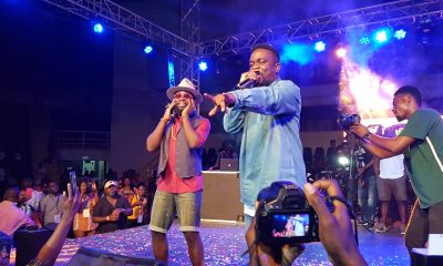 Watch: M.anifest 'congratulates' Sarkodie on live radio.