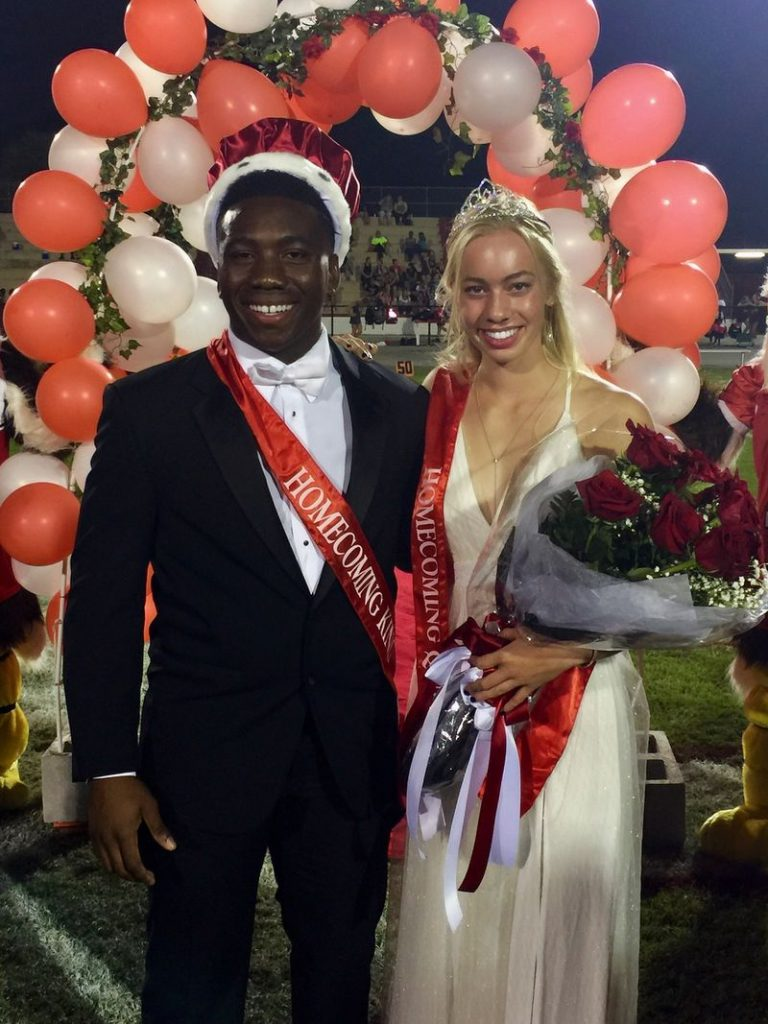 Asare-Konadu and Emily Barlow as 2019 Edgewater homecoming king and queen. (Courtesy photo)