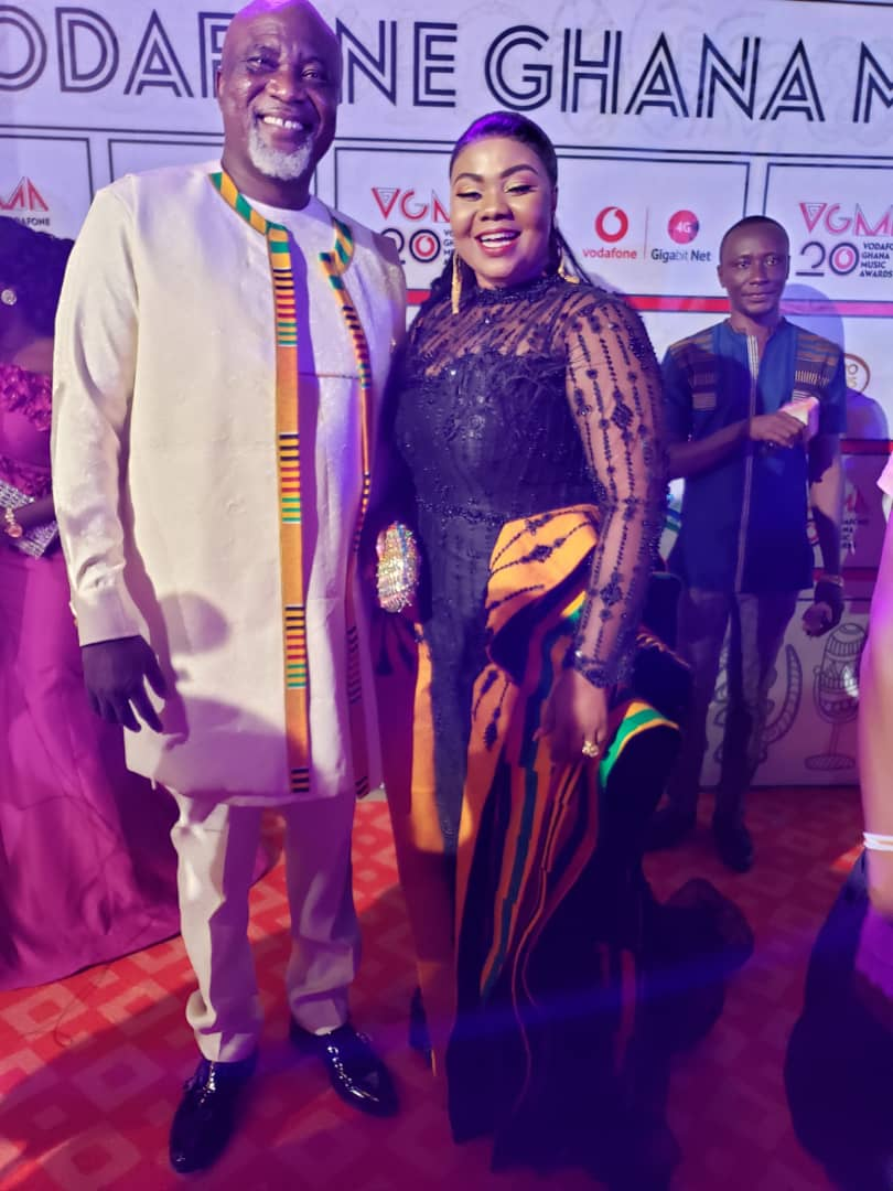 #VGMA20: Empress Gifty and husband arrive on the red carpet.