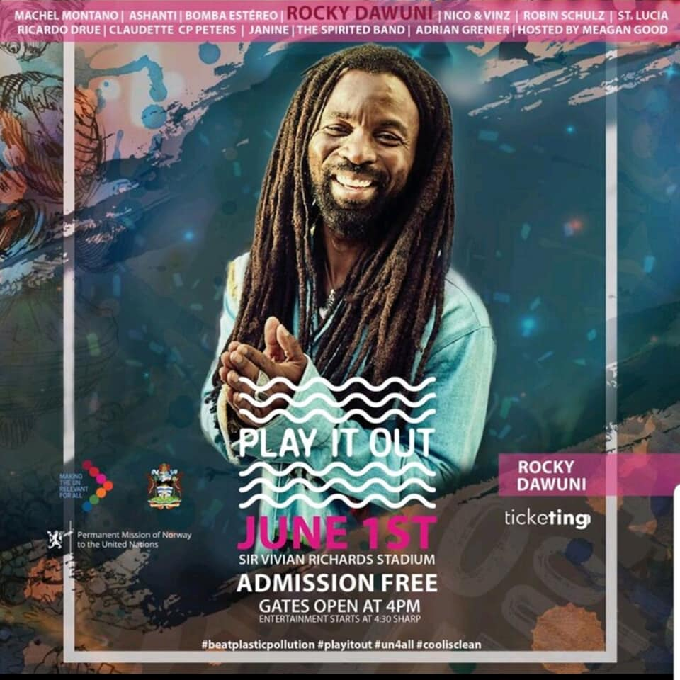 Rocky Dawuni joins UN 'Play It Out' concert in Antigua with Ashanti, Machel Montano and more