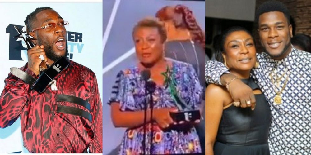 #BETAwards2019: Burna Boy's mother steals the show with powerful acceptance speech.
