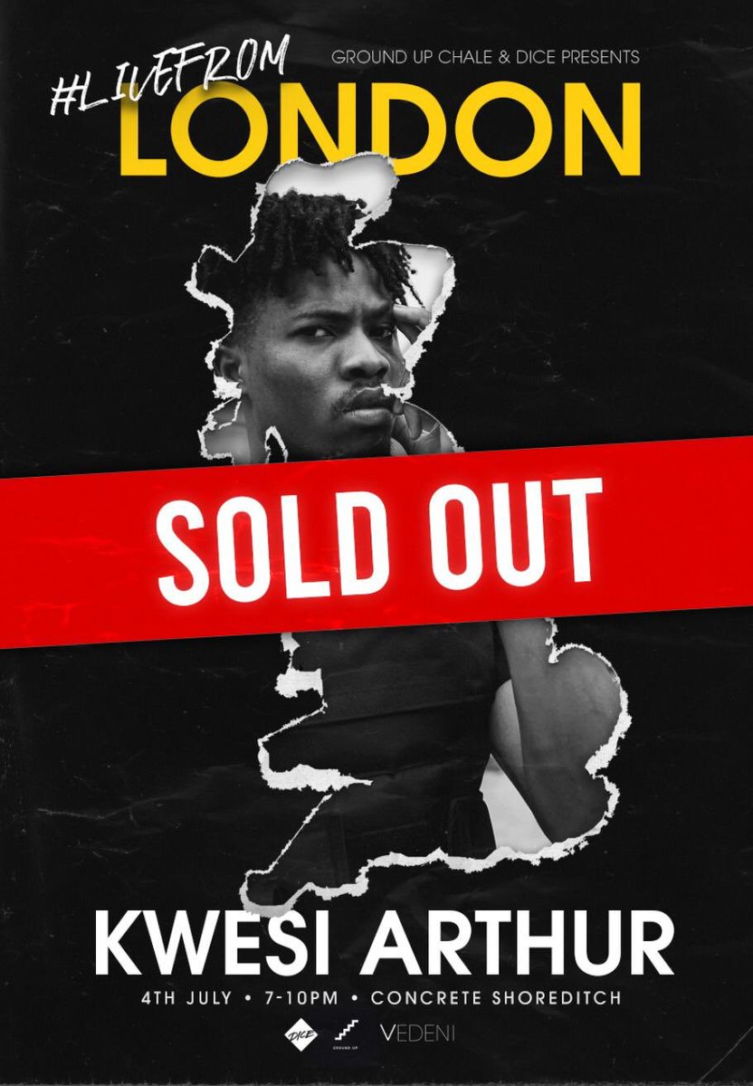 #LiveFromLondon: Kwesi Arthur's London concert sold out.
