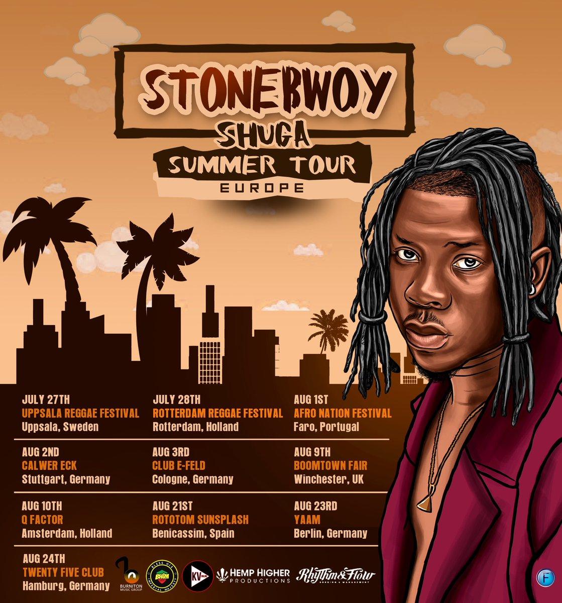 #ShugaEuropeanTour: Stonebwoy announces dates for his Europe tour