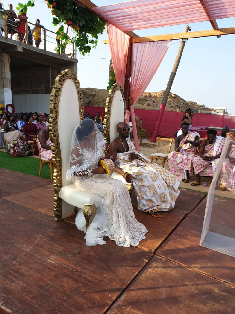 Exclusive photos from Eugene Osafo Nkansah and Victoria Lebene beach wedding
