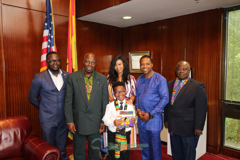 L-R: Kofi Tonto, H.E. the Ambassador, Danielle (mother) with Master Buamah in front of her, Mr. CNN, and Dominic (father) in photo courtesy Oral Ofori of TheAfricanDream.net