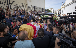 Photos: Former Arsenal and Spain footballer, Jose Antonio Reyes laid to rest after car crash.