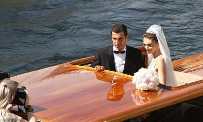 Photos: Arsenal football star, Henrikh Mkhitaryan ties the knot with romantic Venice boat trip