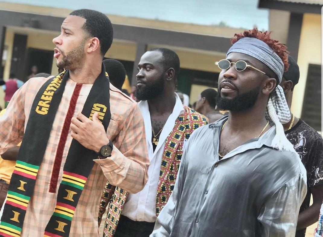 Watch: Memphis Depay hangs with Bisa Kdei on trip to Cape Coast School for the Deaf and Blind