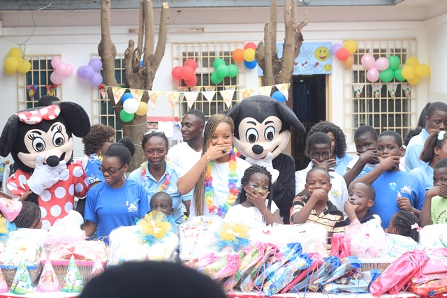 Joselyn Canfor-Dumas celebrated her birthday with students of the Autism Awareness, Care and Training centre in Kokomlemle