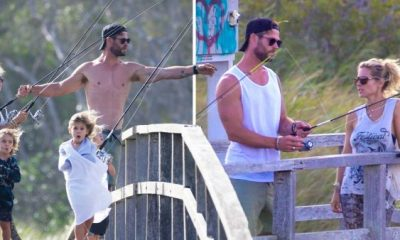 Chris Hemsworth leaves Hollywood to spend time with family.