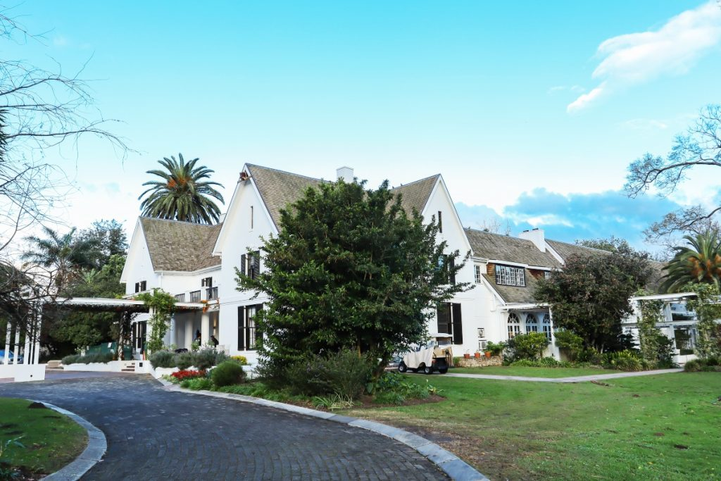 The Manor House boutique hotel, known as the crown of the Fancourt estate.