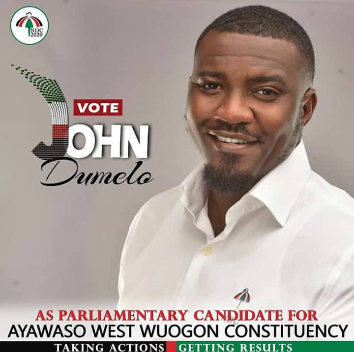 John Dumelo picks form and starts campaign for Ayawaso West Wuogon NDC primaries