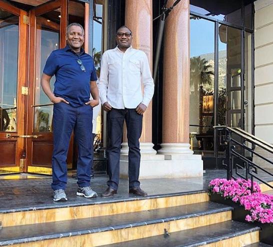 Nigerian billionaires Aliko Dangote and Femi Otedola promise Super Eagles $75,000 per goal during Semi-Final match against Algeria