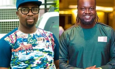 WATCH: Frank Rajah apologizes to Eddie Nartey for sabotaging his movie career on stage, Eddie responds