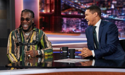 Watch: Burna Boy performs on Trevor Noah's The Daily Show