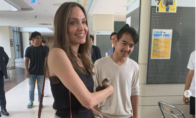 Watch: Angelina Jolie drops her son Maddox off at college