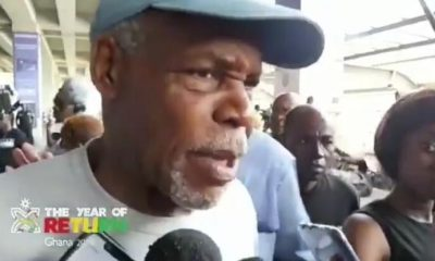 Watch: American actor Danny Glover arrives in Ghana for 'Jamestown to Jamestown'