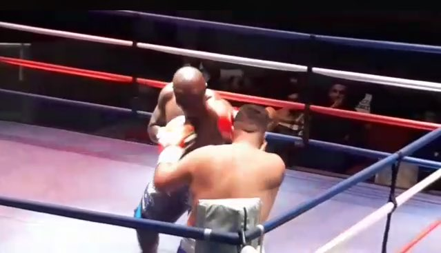 Bukom Banku knocks down Ferenc Albert in 3rd Round for his first win outside Ghana