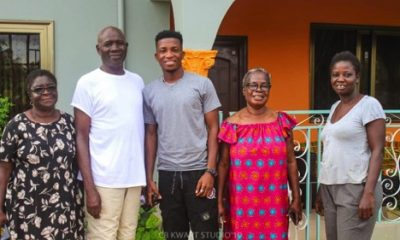Kofi Kinaata with the Abekah Family