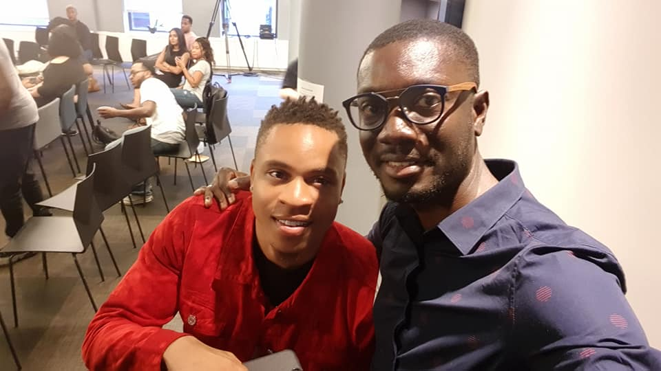 Ameyaw Debrah with Rotimi