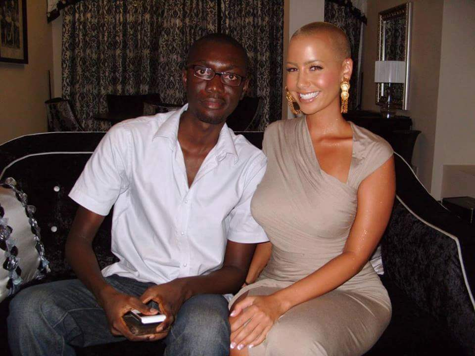 Ameyaw Debrah with Amber Rose