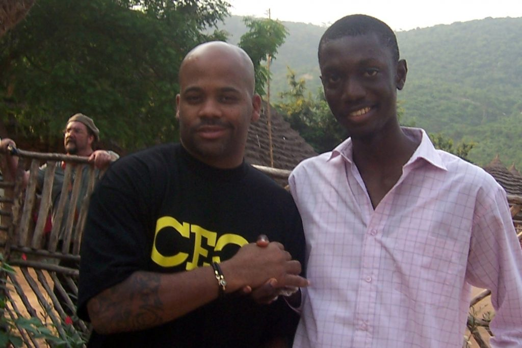 Ameyaw Debrah with Damon Dash