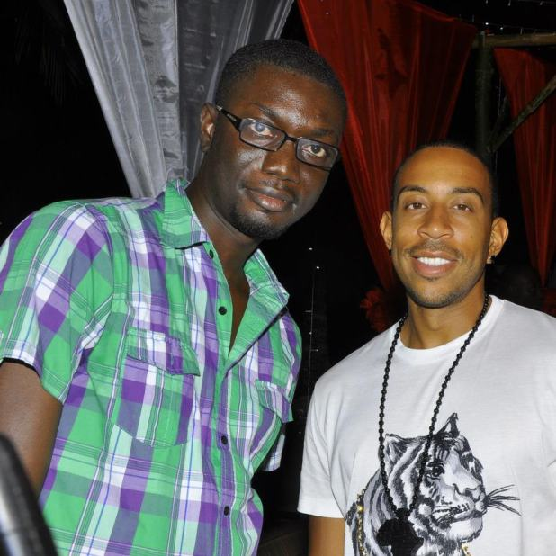 Ameyaw Debrah with Ludacris