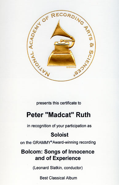 grammy participation certificates