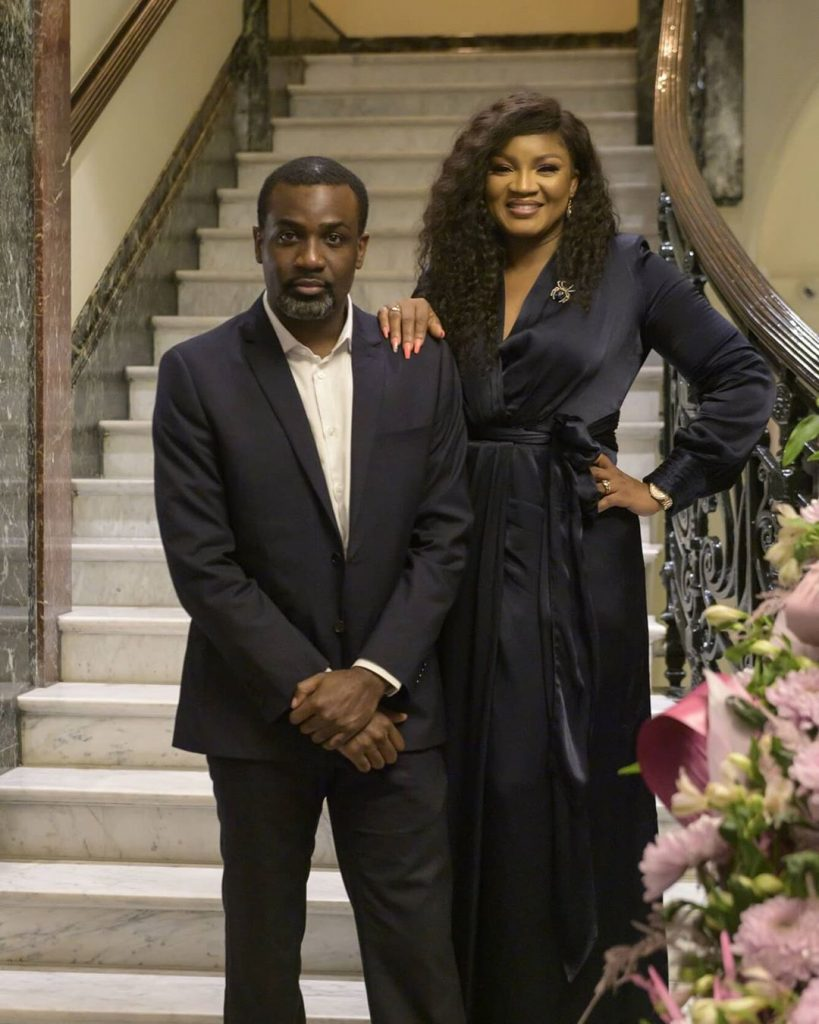 Michael Djaba with actress, Omotola Jalade Ekeinde