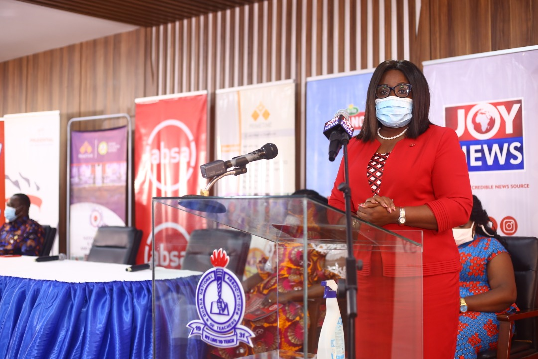 Nana Essilfuah Boison, Marketing and Corporate Relations Director at Absa Bank announced the partnership at the launch of the 2020 NSMQ,
