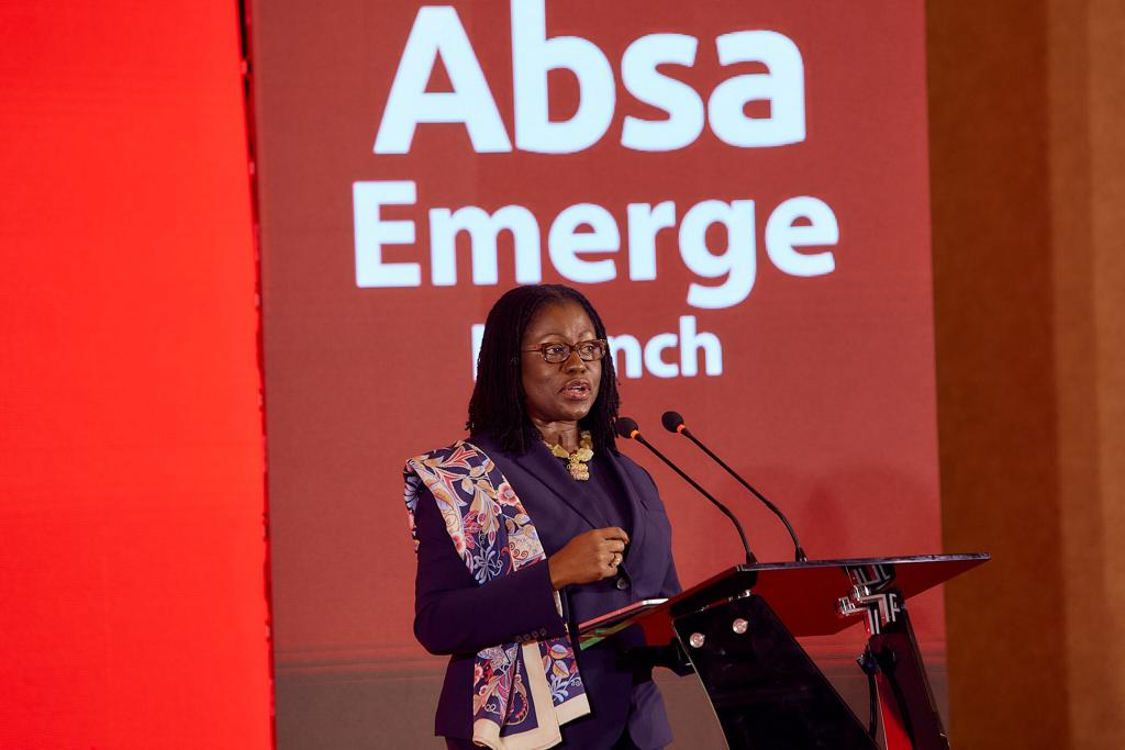 Mrs. Elsie Addo Awadzi, 2nd Deputy Governor of the Bank of Ghana speaking at the launch of Absa EMERGE_1