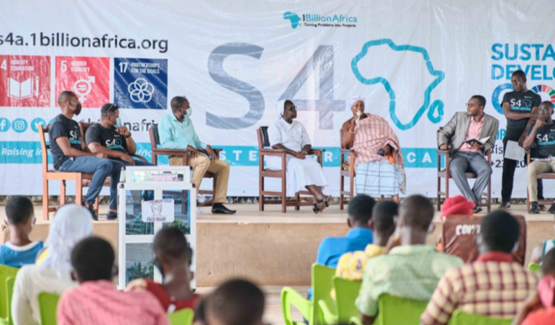 Nana Adwoa Attaa Agyeiwaa II (Queen Mother) sharing her view during a panel discussion