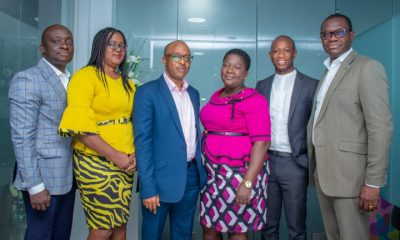 From left to right Eric Quarcoo, GM, Admin & Public Sector; Sylvia Kwame, Head, Recons & Settlement; George Babafemi, Executive Director; Elinam Agbottah, Head, Risk & Compliance; Fred (1)