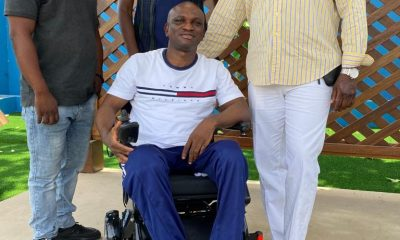 Adisadel old boys in USA present electric wheelchair to Baffour Awuah Tabury