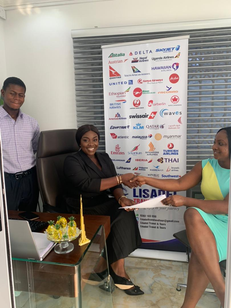 Emelia Brobbey signs brand ambassador deal with Lisadel Travel
