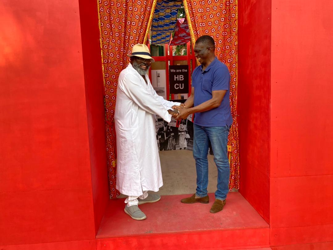 Joe Osae-Addoand Baba Amadu at ArchiAfrika/ Joe Pavillion