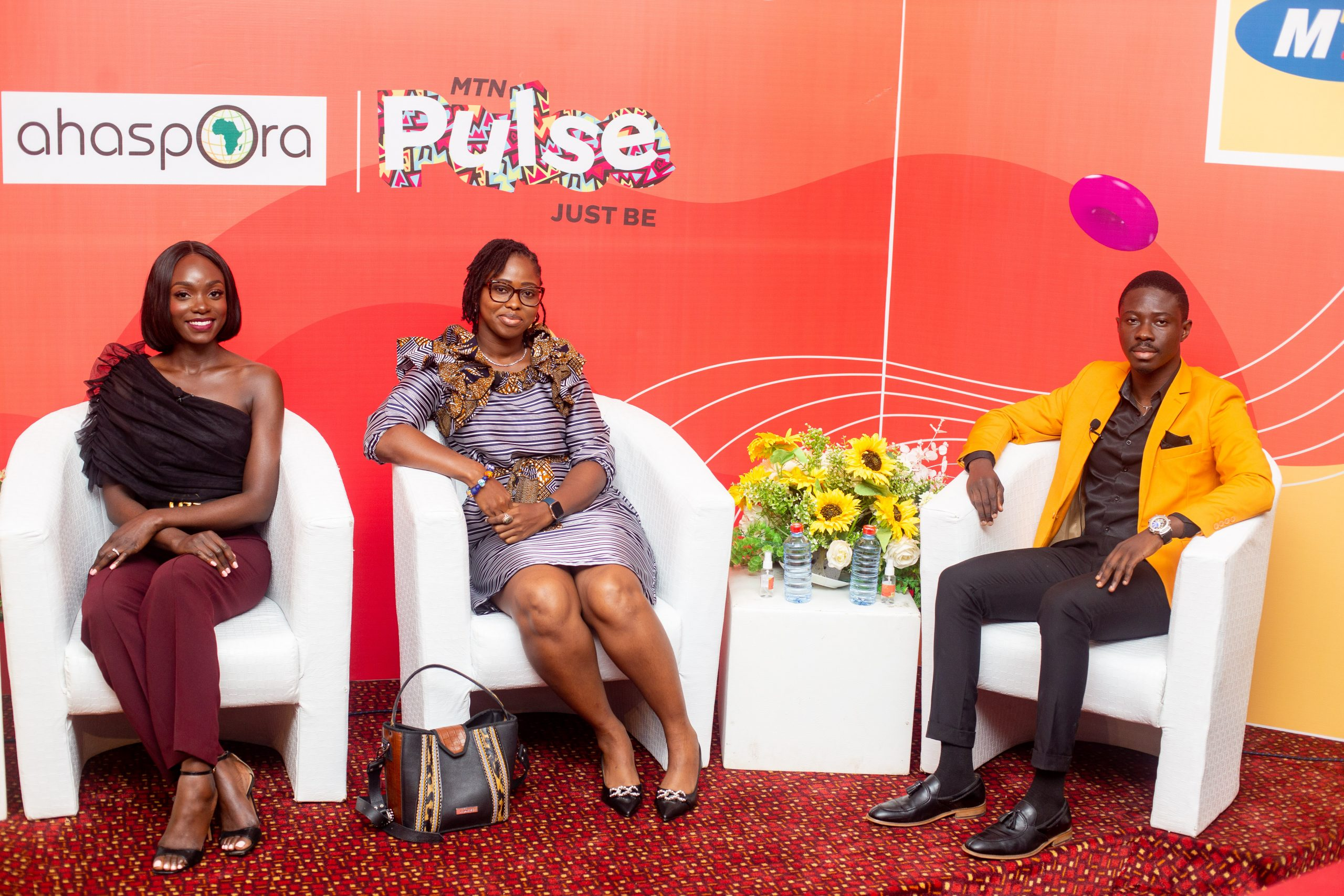 Just Be Series panelists - (from the right) Stephanie Adu, CEO, Colorbox Cosmetics, Mabel Simpson Team lead at mSimps and Ekow Mclean, founder of The Suit.
