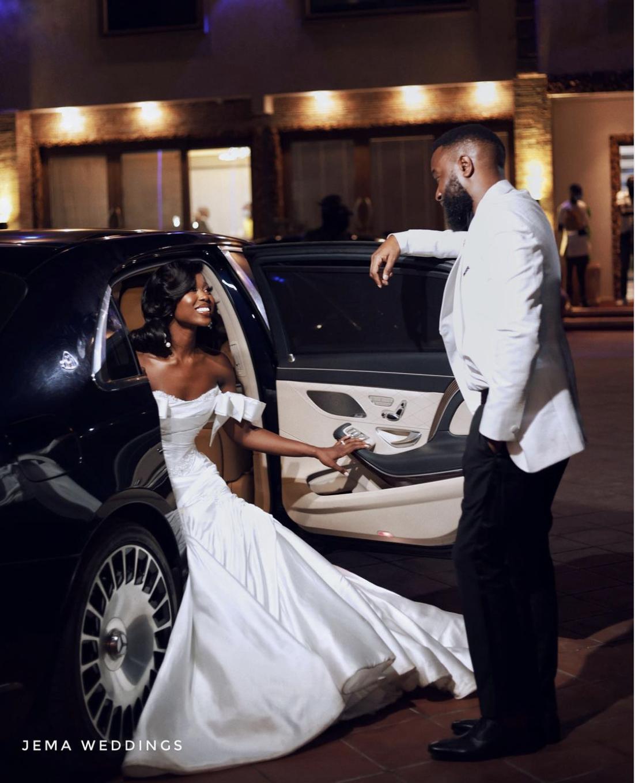 Highlights from Sika Osei and Sele Douglas' white wedding